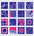 Abstract Logo Designs Set vector image vector image
