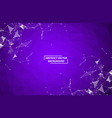 abstract purple polygonal space background vector image vector image