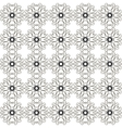 Abstract retro black and white seamless pattern vector image vector image