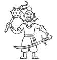Armed Ukrainian Cossack vector image vector image