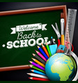 Back to school design with colorful pencil eraser