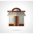 Barbershop facade flat color icon vector image vector image