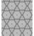 Black and white geometric seamless patterns vector image