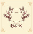 breads ribbon template vector image vector image