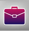 briefcase sign purple vector image vector image