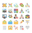 business flat colored icons 6 vector image