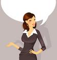busineswoman speak vector image vector image