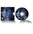 cd label with the treble clef vector image vector image