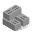 cinder block flat industrial vector image