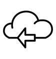 cloud with arrow line icon data vector image vector image