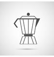 Coffee design coffeepot icon vector image