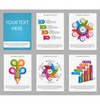 Collection Infographics for business brochures and vector image
