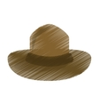 colored canadian hat mounted policeman design vector image