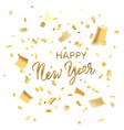 confetti happy new year vector image