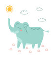 cute elephant in scandinavian style vector image vector image
