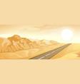 desert landscape background vector image vector image