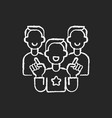 evangelism marketing chalk white icon on black vector image