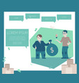 financing new projects and startups concept on vector image vector image
