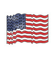 flag united states of america with several wave in vector image vector image