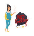 flat danger of smoking symbols icon set vector image vector image