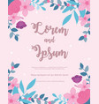 flowers wedding save date floral decorative vector image vector image