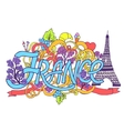 France art abstract hand lettering and doodles vector image vector image