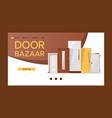 front door bazaar for houses and buildings banner vector image