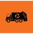 Garbage car recycle icon vector image vector image