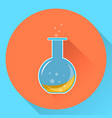 glass chemical flask with a liquid substance vector image