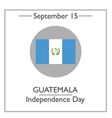 Guatemala Independence Day vector image