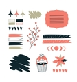 Hand drawn elements for your design Label vector image