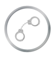 Handcuffs icon in cartoon style isolated on white vector image vector image