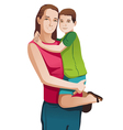 Happy mother with a child vector image