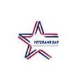 happy veterans day november 11th veterans day vector image vector image