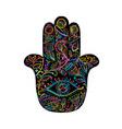 indian ornate hand hamsa symbol vector image