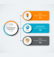 infographic diagram template with 3 options vector image vector image