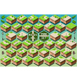 Isometric Roads on Green City Park vector image