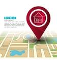 location concept design vector image vector image