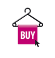logo hanger with a button and the cursor vector image vector image