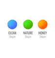 logo set of colorful spheres - honey farm or store vector image vector image