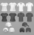 male and female black white t-shirt and baseball vector image vector image