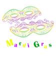 mardi gras decorative celebratory two masks vector image