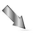 metal downloads arrow on white vector image vector image