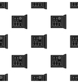 Mini-bar icon in black style isolated on white vector image vector image