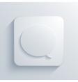 modern bubble speech light icon vector image vector image