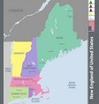 new england of united states vector image vector image