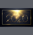 nye new year eve 2020 happy new year 2020 winter vector image