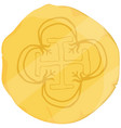 old golden coin vector image vector image