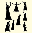 opera and theater gesture silhouette 03 vector image vector image