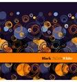 Orange geometric background vector image vector image